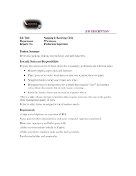 shipping and receiving clerk resume samples  seangarrette co shipping and receiving clerk resume samples