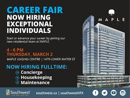 career fair properties properties is bringing the largest multi residential building to downtown halifax this spring maple will add another 300 rental units to our