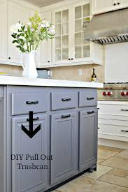 Kitchen Cabinet Garbage Drawer Turn A Door And A Drawer Into A Pull Out Trash Can
