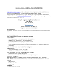 sample resume format for freshers engineers resume samples for sample resume format for freshers engineers