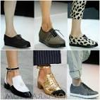 Модные туфли без каблука фото