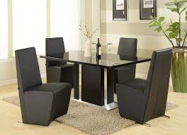 dining sets modern glass tables frantic glass table with black leg also chairs as best modern dining s