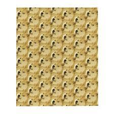 Dogecoin <b>Shiba Inu Pattern</b>, Throw Blanket – Print-ted