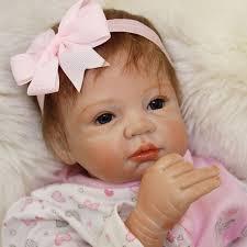 PP Cotton Body <b>Baby Doll</b> 55cm Silicone <b>Reborn Doll 22inch</b> ...