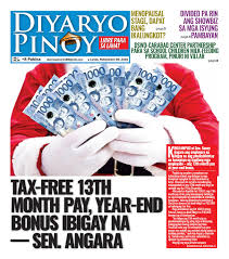 tax th month pay year end bonus ibigay na sen angara by tax 13th month pay year end bonus ibigay na sen angara by diyaryo pinoy issuu