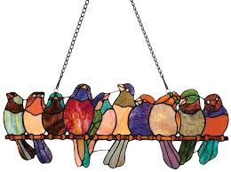 <b>Birds</b> on a Wire <b>Stained Glass</b> | Shop.PBS.org