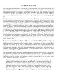 thesis for essay  essay example