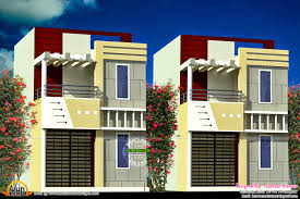 Row house design   Kerala home design and floor plansRow house design