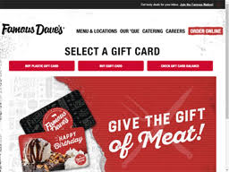 Famous Dave's BBQ   Gift Card Balance Check   Balance Enquiry ...