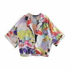 <b>2019</b> Summer Fashion Floral <b>Print</b> Chiffon Za Blouse <b>Female</b> ...