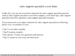 sales support specialist cover letter In this file  you can ref cover letter materials for