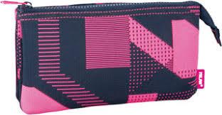 <b>Milan Пенал</b>-<b>косметичка</b> Knit цвет черный розовый, 3 отделения ...