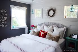 master bedroom feature wall: after of master bedroom makeover from farmhouse