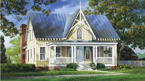 Gothic Revival House Plans and Gothic Revival Designs at    Gothic Revival Style House   Plan HWBDO