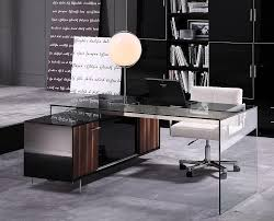 contemporary desks for office contemporary office desk with thick acrylic cabinet support legs decor ideas acrylic glass desks