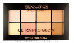 <b>Makeup Revolution</b> Ultra Pro Glow - <b>Палетка хайлайтеров</b> ...