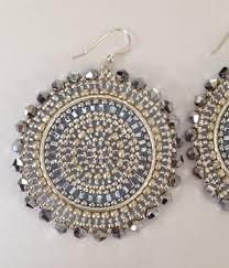 <b>Silver</b> Crystal Goddess <b>Seed Bead</b> Earrings Beaded Jewelry ...
