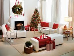 xmas living room red