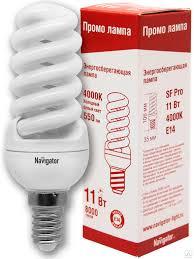 <b>Лампа энергосберегающая Navigator 11</b>/840 Е14, цена в ...