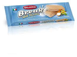 <b>Вафли Balocco</b> Break <b>Milk</b> Vanilla с молочным кремом 90 г ...