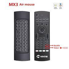 MX3 Backlit USB <b>2.4G Wireless</b> Air Mouse T3 Black Smart <b>Remote</b> ...