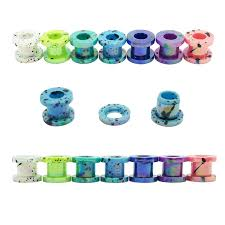 <b>1pair colorful</b> ear plugs and tunnels for men women ear expanders ...