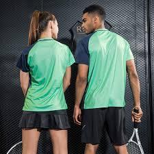 Table Tennis Clothes Badminton Shirt <b>Quick Dry Breathable</b> Printed ...