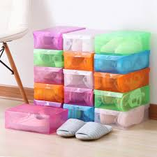 12 шт. прозрачная коробка для <b>обуви</b> пластиковый <b>органайзер</b> ...
