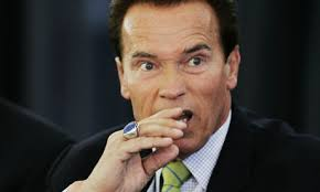Arnold Schwarzenegger: An unlikely character in tonight's election night story after he tweeted David Cameron. Photograph: Paul Sakuma/AP - Arnold-Schwarzenegger-Gov-002