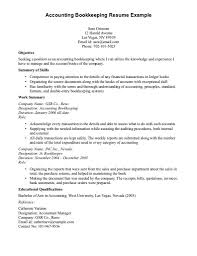 attractive index of accounting bookkeeping resume sample summary exquisite resume example