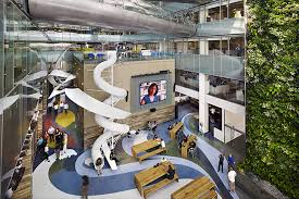 corus quay in toronto canada coming in at a massive 500000 sq ft corus entertainment had plenty of space to be creative with to boost the productivity best office in the world