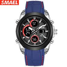 <b>SMAEL Men's Double</b> Display Watches Outdoor Sports Multi ...