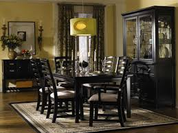 black dining room furniture or black dining table decor idea black wood dining room