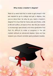 why study a master degree