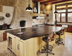 dishy kitchen counter decorating ideas: beautiful design ideas of english country kitchen cabinets with stunning brown wooden color and black
