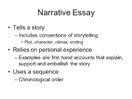 the  paragraph essay introduction expository essay attempts to  narrative essay tells a story includes conventions of storytelling plot character climax