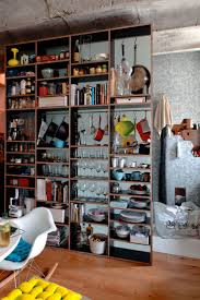 niche original small kitchen storage small kitchen space with exposed dinnerware shelves