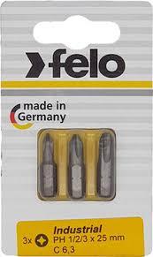 <b>Набор бит Felo PH</b> 1/PH 2/PH 3X25, 02293116 купить в интернет ...