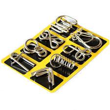 Montessori Materials 8 Pcs/Set <b>Metal</b> Wire Puzzle Iq Mind Brain ...