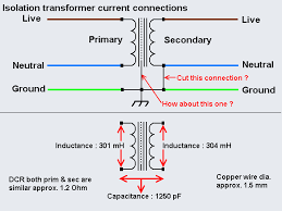 modding an isolation transformer please advise page  made the the schematic below after dismantling the whole unit traced all connections and also made few measurements on the transformer windings electrical