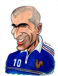 Resultado de imagen de caricatura zidane