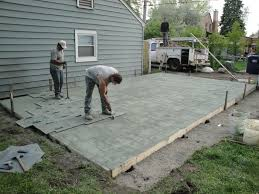 imprinted concrete patio