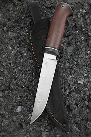 <b>Нож</b> Засапожный дамаск нержавеющий карбон палисандр