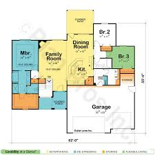 One Story House Plans   Open Floor Plans   Design BasicsOne Story House Plans  One Story Home Plans