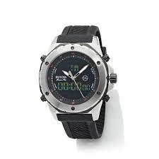 Buying Bulova Black Dial Wavy <b>Silicone Strap Sports</b> Watch - mens ...