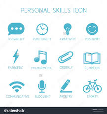 personal skills icon self characteristic vector stock vector personal skills icon self characteristic vector icon set soft skills pictograms can be