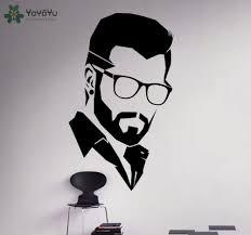 <b>YOYOYU Wall Decal Modern</b> Man Salon Vinyl Wall Stickers ...
