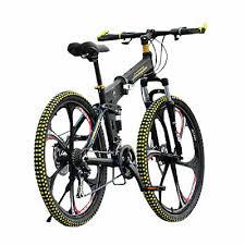 27 Speed <b>Magnesium Alloy Wheel</b> Folding Mountain Bike+Disc ...