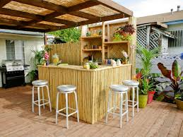 exterior fabulous barstool on simple wood floor fit to diy outdoor bar with palm tree chic mini bar design