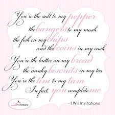You complete me: An Australian Wedding Quote | I Will Invitations ...